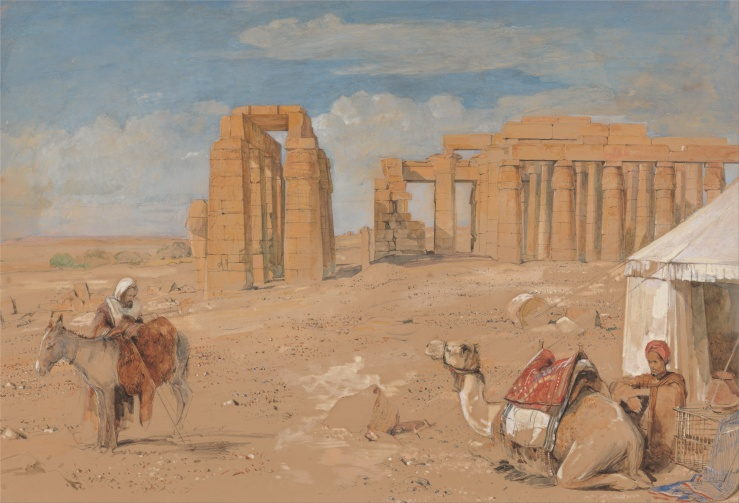 John_Frederick_Lewis_-_The_Ramesseum_at_Thebes_-_Google_Art_Project