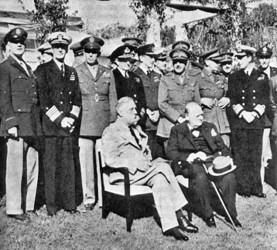 Casablanca-Conference 1943 Churchill