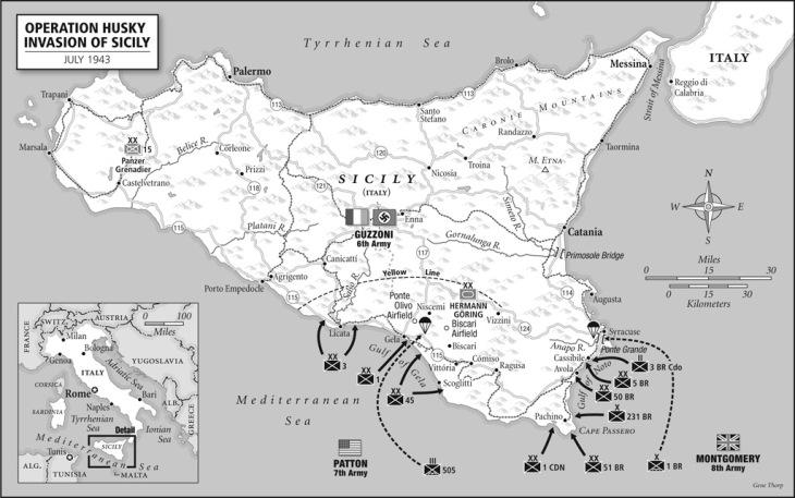 sicily invasion ww2 italian campaign 1943