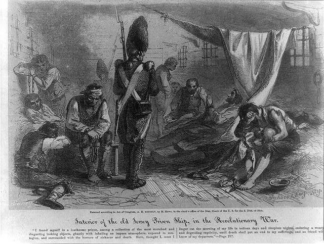 Interior_HMS_Jersey_1855 inside a prison ship