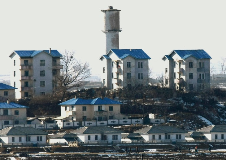 peace village north korea close up