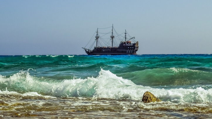 Pirate ship Alexander Selkirk illustration