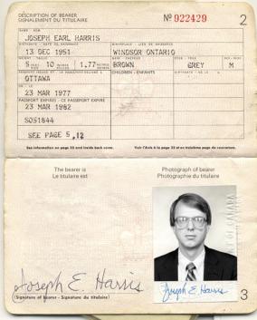 passport Joseph E Harris Argo Canadian Caper