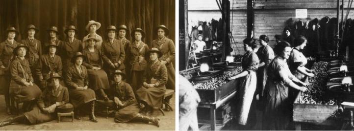 Women working at man jobs during WW1
