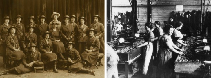 Women working at man jobs during WW1