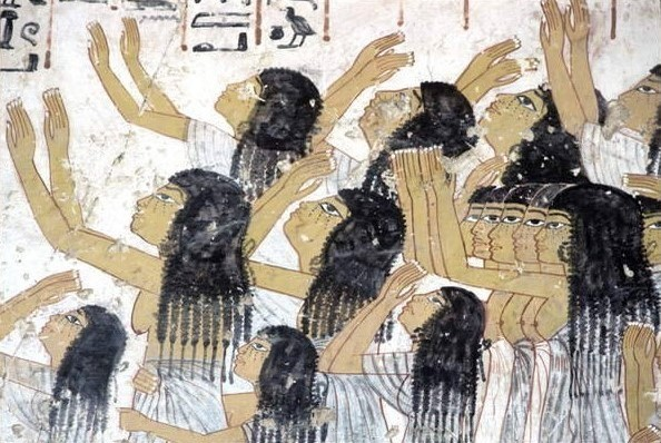 Egyptian women wailing