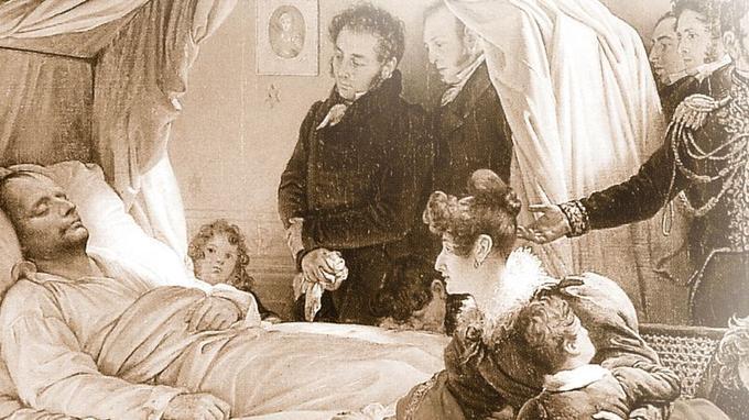 Napoléon deathbed