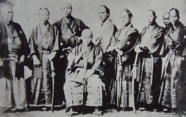 Samurai group circa. 1860